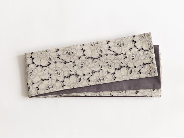 リバーシブル半幅帯「Flowerレース michelle」