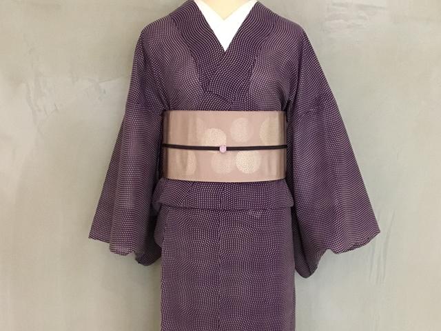 博多織半幅帯ー小菊