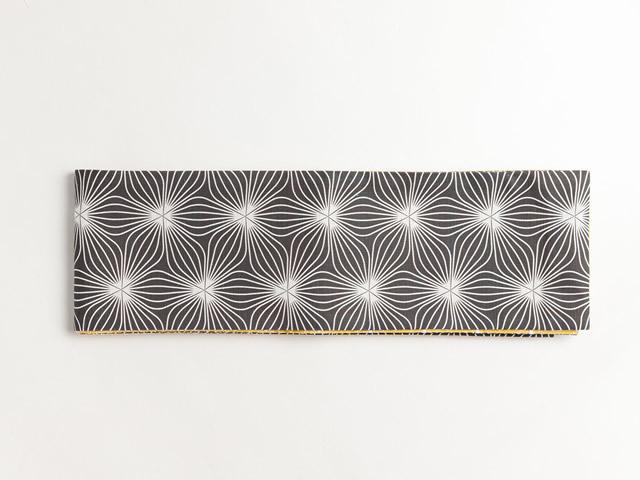 リバーシブル半幅帯-万華鏡の花