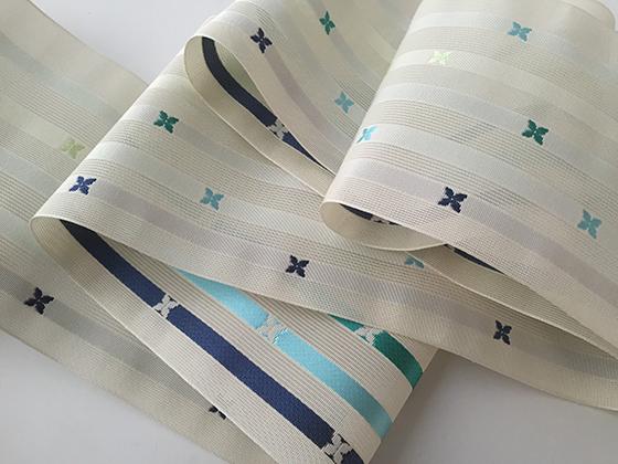博多織-夏の紗半幅帯-FLOWERS