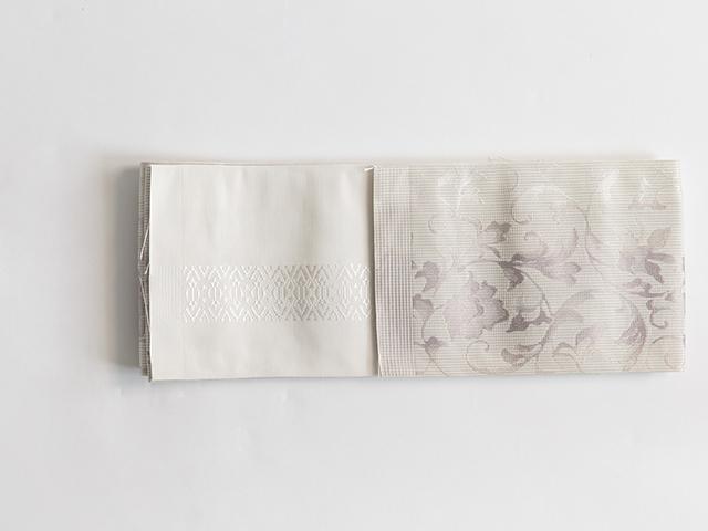 博多織半幅帯「結」花唐草
