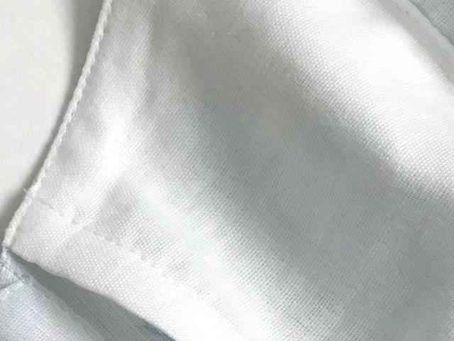 夏の綿麻マスク