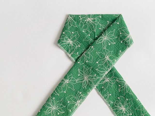 木綿のお半衿green green