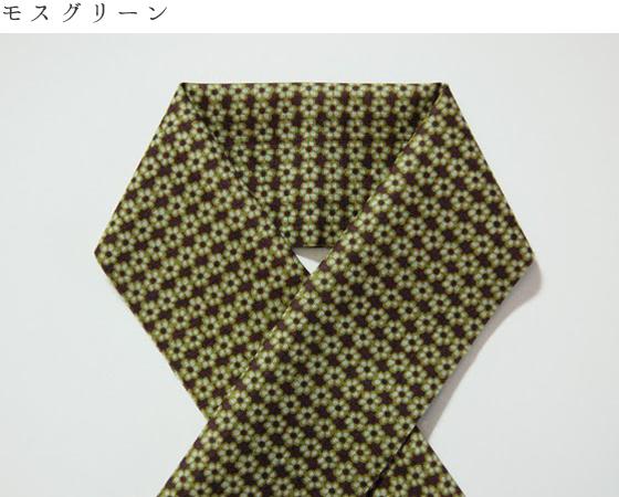 木綿のお半衿「小花タイル」