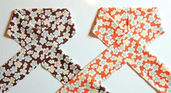 木綿のお半衿「お花畑」