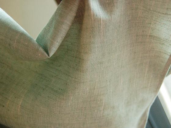 遠州木綿着物ー水浅葱&錆青磁