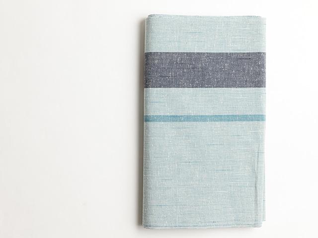 遠州木綿「片持ちstripe薄青」