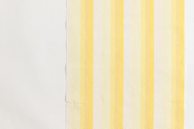 木綿の阿波しじらキモノ「グラデーション縞yellow」