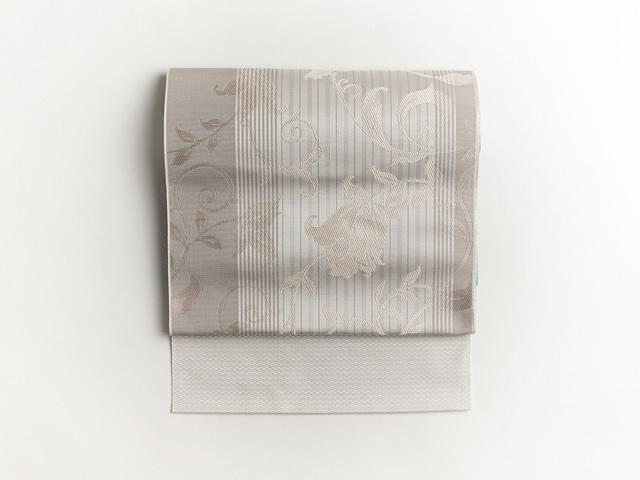博多織-名古屋帯ー花唐草 stripe