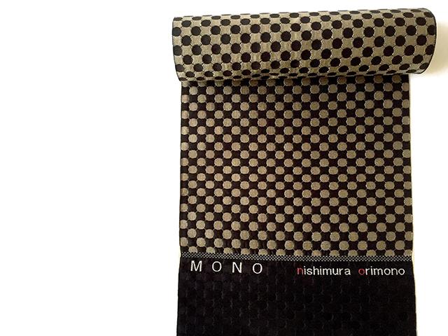新作博多織 洒落八寸名古屋帯「mono」