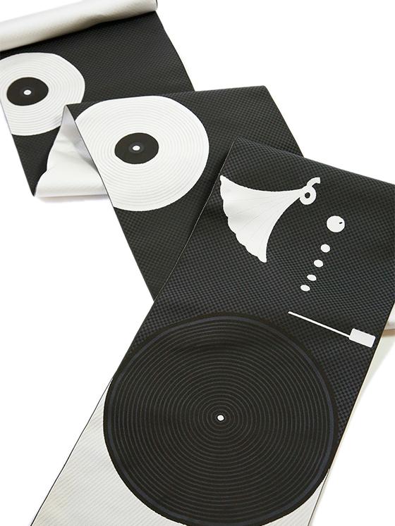 八寸名古屋帯「アールデコ・レコード」