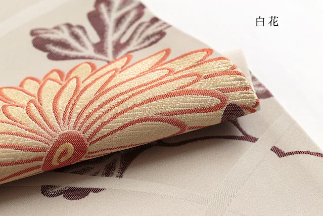 名古屋帯「レトロモダンな大輪菊」