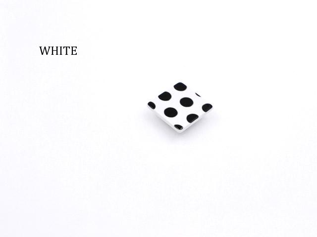 【帯留め】BLACK & WHITE DOTS