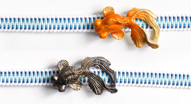 帯留め「金魚」