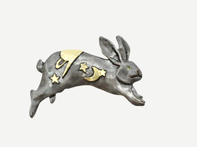 【帯留め】ヨゾラウサギ