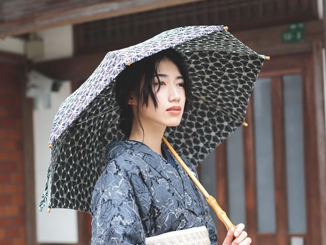 レースの日傘