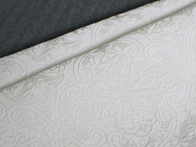 正絹ふくれ織りお半衿「アラベスク」