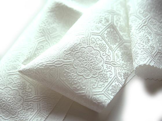 正絹ふくれ織りお半衿「コスモロジー」