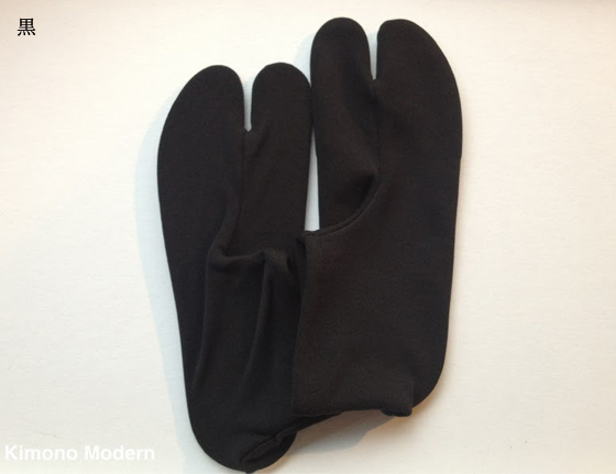 ベルベッド色柄足袋「Black&White」