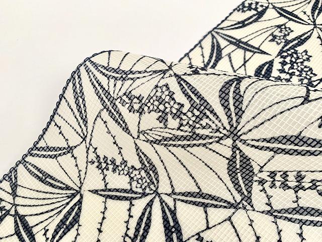 綿絹紅梅-型染め浴衣-夏の花summer